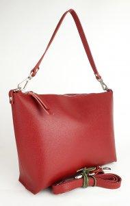 Dámská kožená kabelka FACEBAG RACHEL - Tmavá červená *saffiano*
