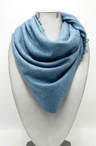 Dámská zimní šála ze směsi bavlny a viskózy modrá