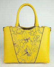 Luxusní dámská kožená kabelka RIPANI 9361 HF 011 ANINGA - Žlutá *ruga*