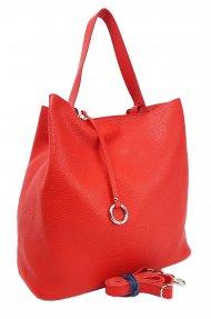Dámská kožená kabelka FACEBAG BETH - Světlá červená *dolaro*