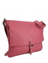 Dámská kožená kabelka FACEBAG LUCY - Fuchsiová *dolaro*