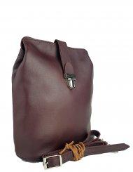 Dámská kožená kabelka FACEBAG ANNA - Vínová hladká