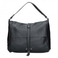 Dámská kožená kabelka FACEBAG BRIDGET - Černá