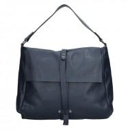 Dámská kožená kabelka FACEBAG BRIDGET - Tmavá modrá