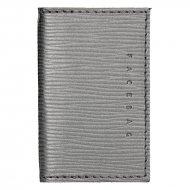 Kožené pouzdro na doklady FACEBAG 115057 - Stříbrná epi