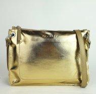 Dámská kožená kabelka FACEBAG CANNET - Zlatá hladká