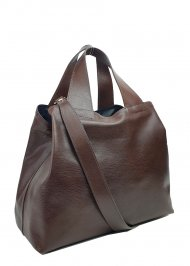 Dámská kožená kabelka FACEBAG SOFI - Tmavá hnědá *vintage*