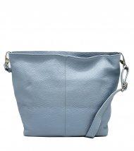 Kožená crossbody kabelka Olivia světle modrá