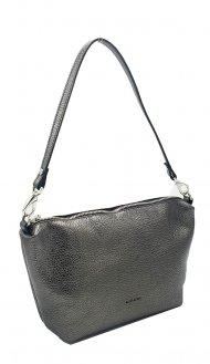 Kožená crossbody kabelka Ripani 7099 OL 079 Easy bag stříbrná