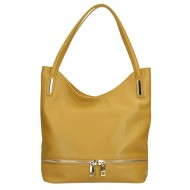 Dámská italská kožená kabelka SOLA - Tmavá žlutá