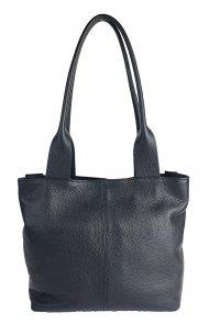 Dámská kožená kabelka FACEBAG KELLY - Černá *dolaro* s dlouhými uchy