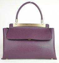 Luxusní dámská kožená kabelka RIPANI 8714 JJ 052 CALATEA - Vínová *safiano*