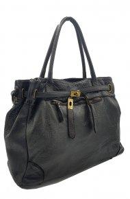 Kožená kabelka 2271 1 černá vintage
