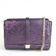 Dámská italská kožená kabelka RIPANI 5771 WL 052 LINFA - Fialová had