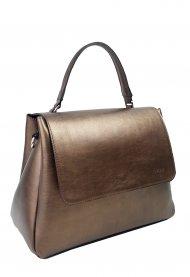 Dámská kožená kabelka FACEBAG GRACE - Bronzová hladká