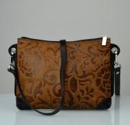 Dámská kožená kabelka FACEBAG - BABI tmavě hnědá