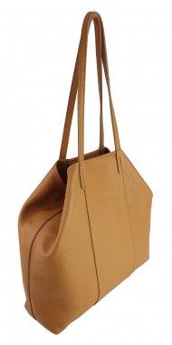 Dámská kožená kabelka FACEBAG MIA - Cuoio *dolaro*