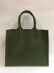 Dámská kožená kabelka FACEBAG LUSSA - zelená