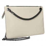 Elegantní dámská kožená kabelka FACEBAG ERIN - Béžová *dolaro*