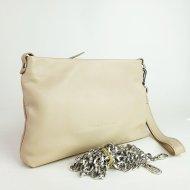 Dámská kožená kabelka FACEBAG MAXA - Béžová hladká