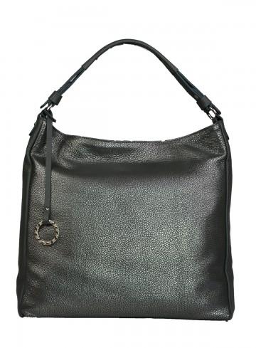 Dámská kožená kabelka FACEBAG  ELIA - Stříbrno - šedá