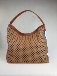 Dámská italská kožená kabelka 2303 - Hnědá