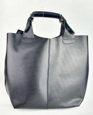 Dámská italská kožená kabelka 3159 - Černá hladká