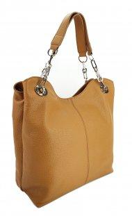 Dámská kožená kabelka FACEBAG AGATA - Cuoio *dolaro*
