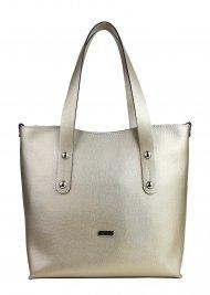 Dámská kožená kabelka FACEBAG IRENE - Matná zlatá *safiano*