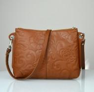 Dámská kožená kabelka FACEBAG - BABI hnědá