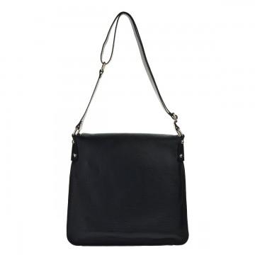 Dámská kožená kabelka FACEBAG ELIDA - Černá