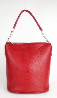 Kožená kabelka FACEBAG MOLY - Červená *dolaro*