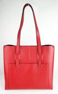 Dámská italská kožená kabelka 8132 - Červená *dolaro*