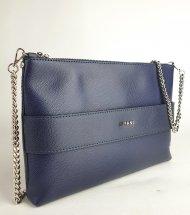 Kožená kabelka Ripani 9972 KC 002 Guenda modrá
