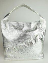 Dámská italská kožená kabelka RIPANI 8604 OM 030 MEDINILLA - Stříbrná *dolaro*