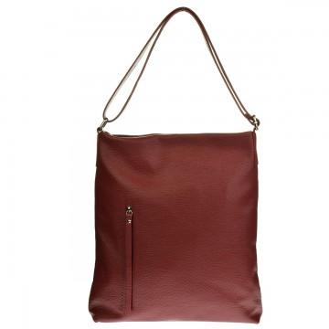 Dámská kožená kabelka FACEBAG SIMMA - Tmavá červená