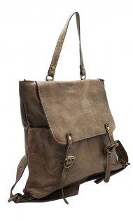 Kožený batoh 3356 tmavá taupe vintage