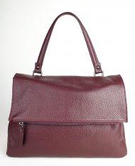 Dámská italská kožená kabelka 5962 - Vínová *dolaro