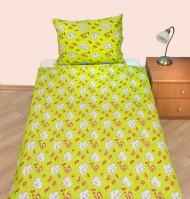 Povlečení dětské bavlna velká postel Slůně zelené, Výběr zapínání: - nitěný knoflík