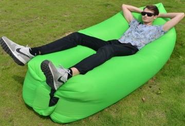 Samonafukovací pytel Lazy Bag - dvouvrstvý - zelený