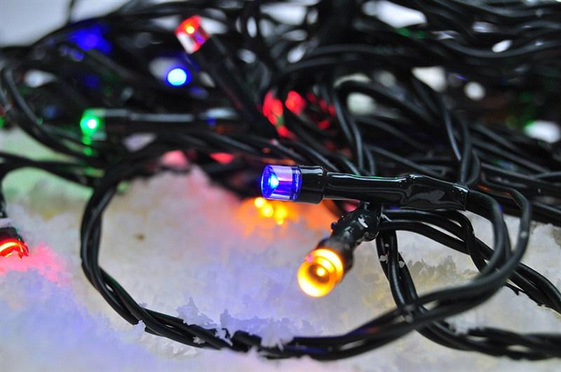 Vícebarevný vánoční řetěz Solight LED - 60 LED, 10 m