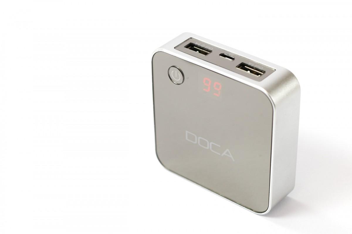 Powerbanka DOCA D525 8400 mAh - stříbrná