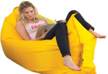 Samonafukovací pytel Lazy Bag - dvouvrstvý - žlutý