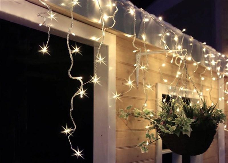 Vánoční závěs Solight LED -venkovní, rampouchy, 120LED, 3m x 0,7m