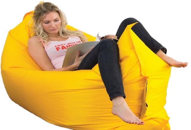 Samonafukovací pytel Lazy Bag - jednovrstvý - žlutý