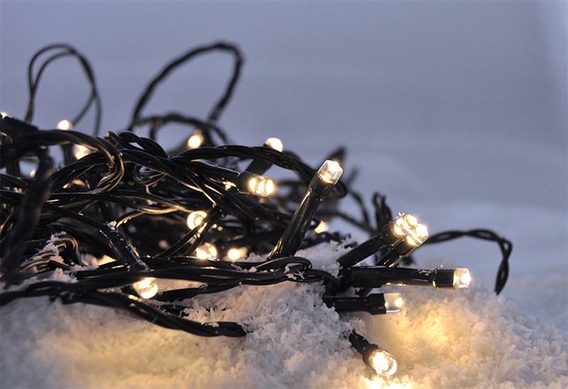 Bílý  vánoční řetěz Solight LED - venkovní, 200 LED, 10m (teplá bílá)