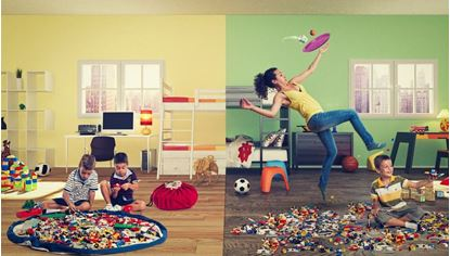 Vak na hračky - Vak na hračky MODRÝ