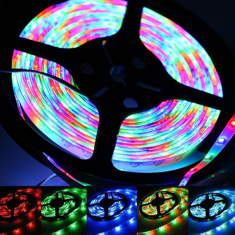 LED pásek barevný 5 metrů - kompletní sada