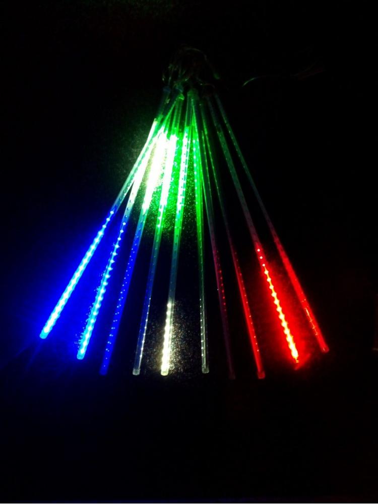 Vánoční led osvětlení - PADAJÍCÍ SNÍH - Padající sníh - multicolor