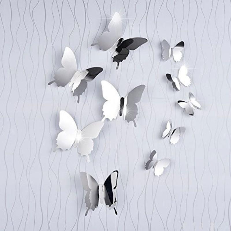 3D zrcadlový motýl 12 ks